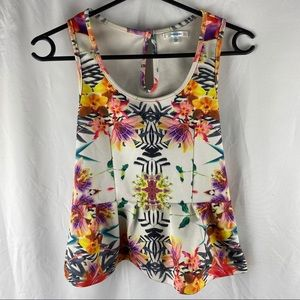 Valleygirl Multicolored Floral Top Size S
